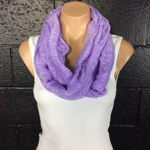 Accessories - Light Purple and White Infinity Scarf
